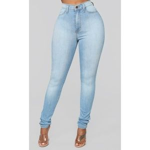 High Waisted Stretch Skinny Jeans